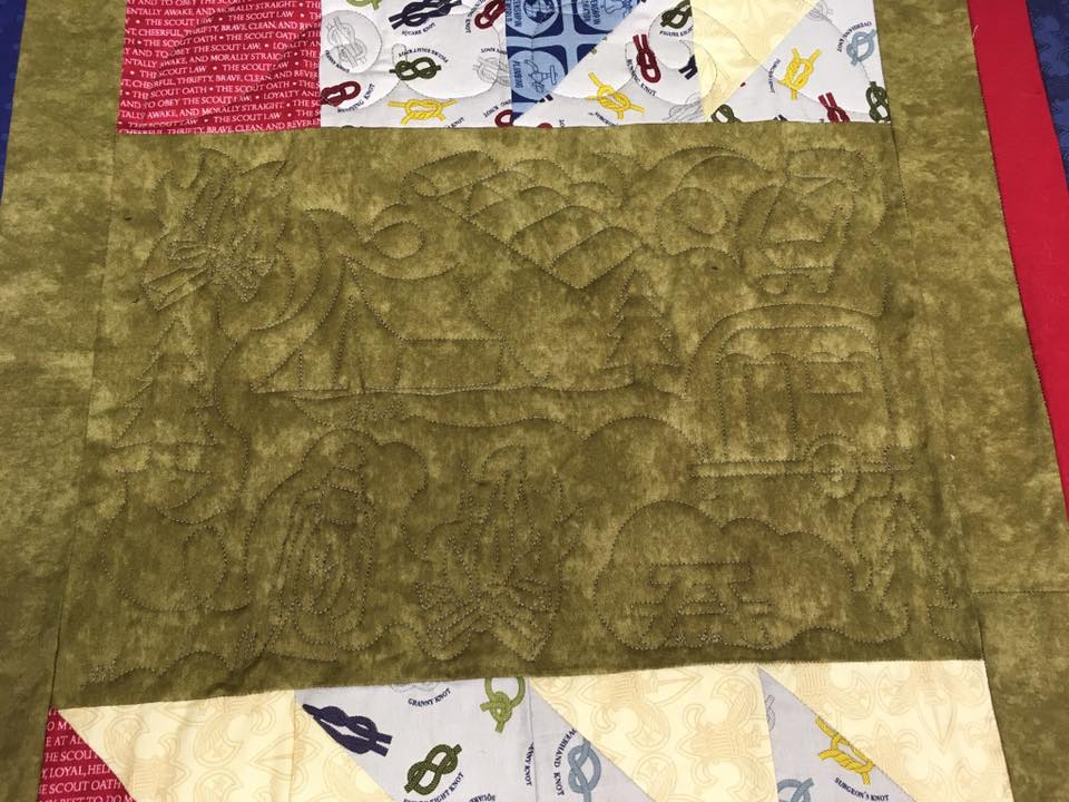 boy scoutcamping quilt