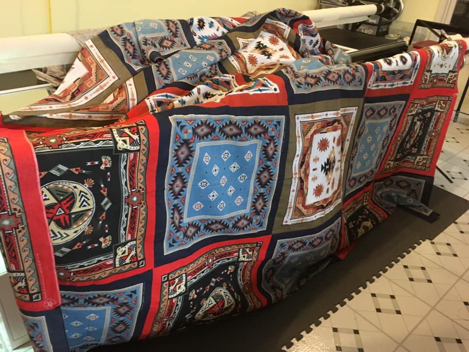 quilt top panel blanket